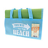 Country Club Blue and Green Beach Mat, To The Beach Design