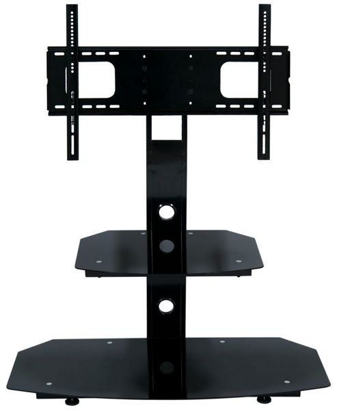 LEVV 2 Shelf Black Cantilever TV Stand - Up to 60 inch