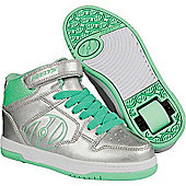 Heelys Fly 2.0 Heely Shoe Silver/Mint - Grey