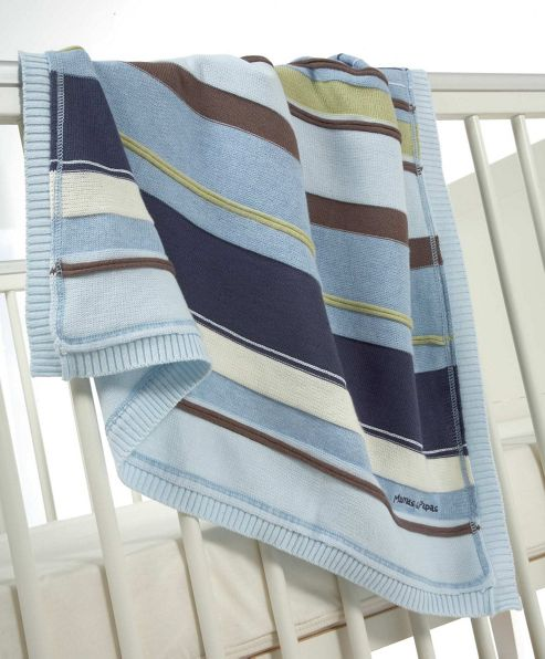 Mamas & Papas - Scrapbook Boys - Knitted Blanket