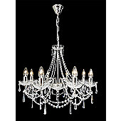 Titania Lux 8 Light Crystal Chandelier