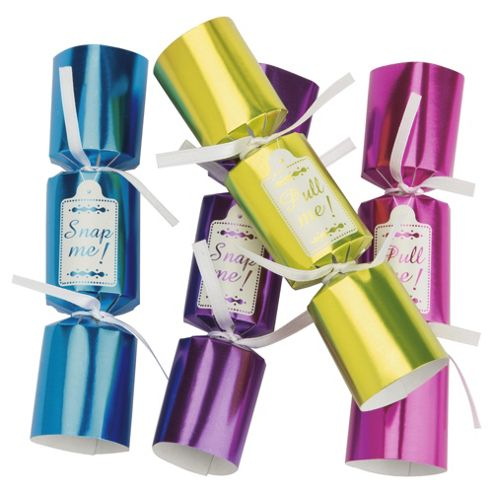Tesco Brights 'Pull Me' Mini Christmas Crackers, 10 Pack