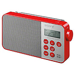 Sony XDRS40 DAB Radio Red