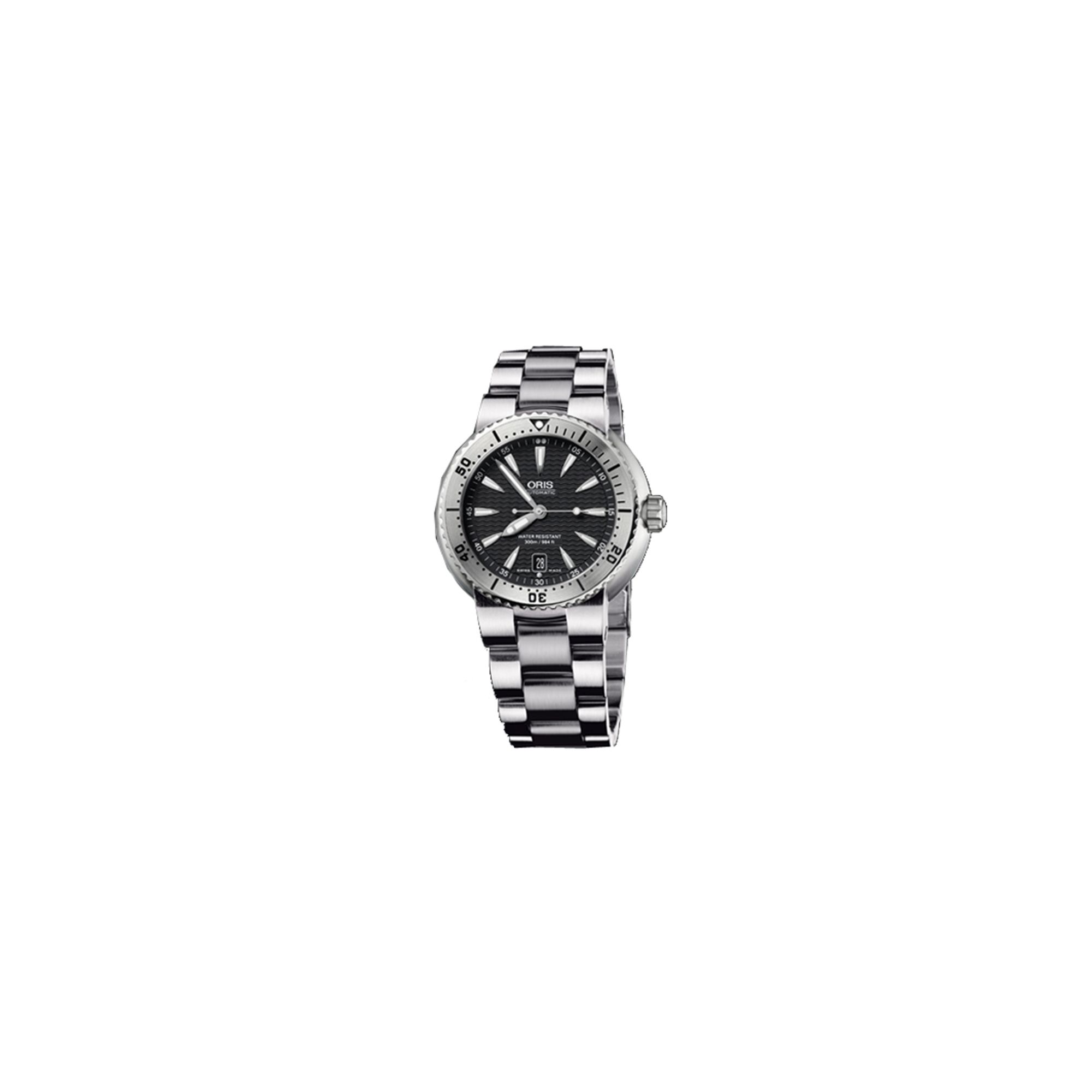 Oris Gents Drivers Gate Silver Tone Bracelet Watch 73375334154MB at Tesco Direct