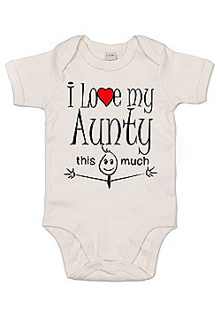 Dirty Fingers I love my Aunty this much Baby Bodysuit - White