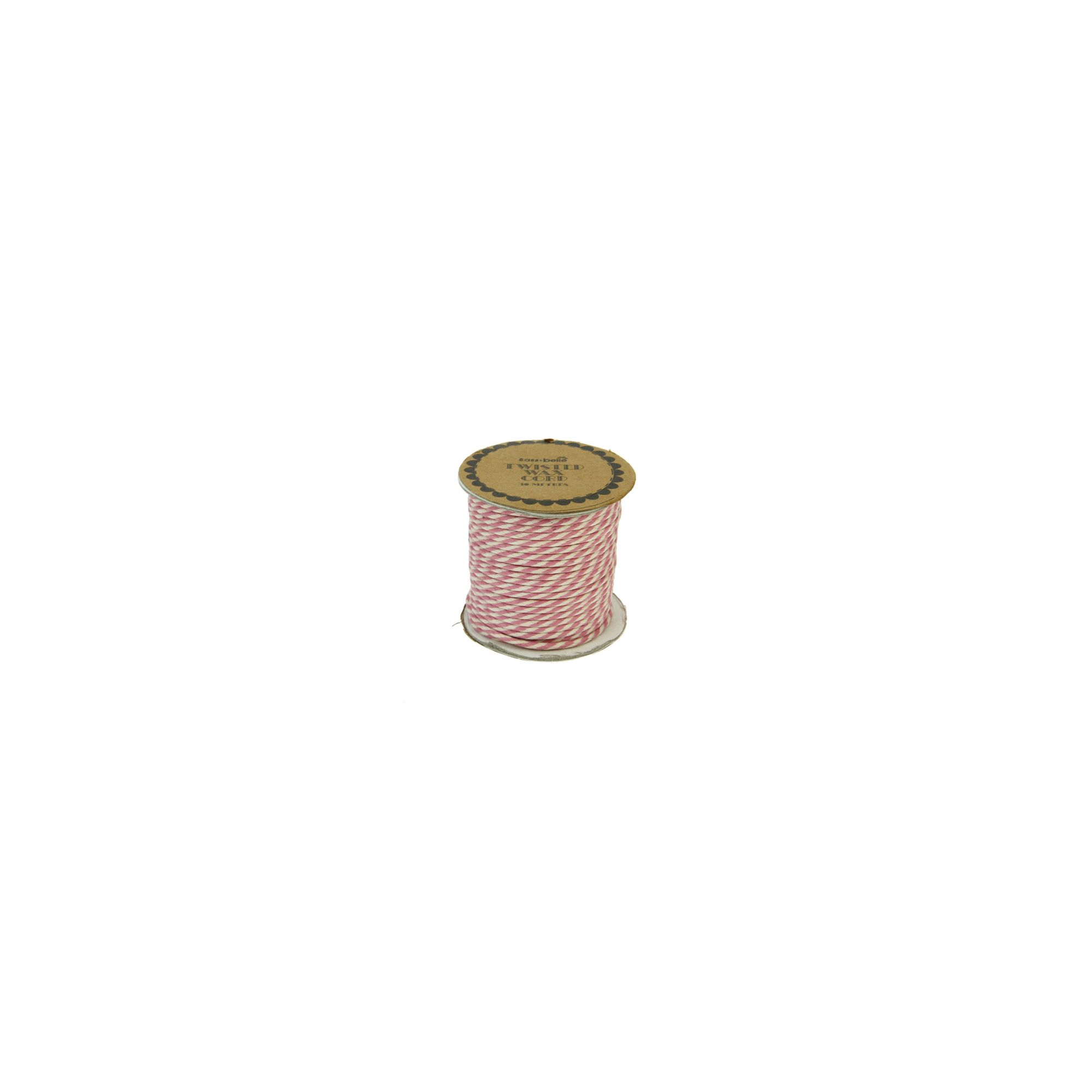Twisted Wax Cord 10m Pink