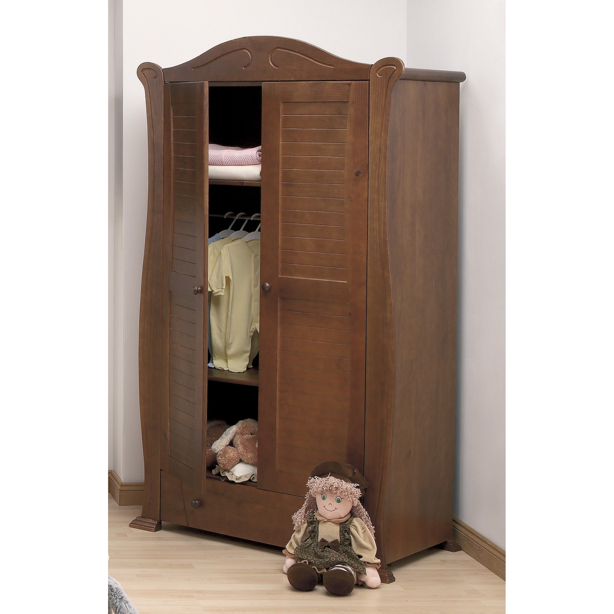 Tutti Bambini Marie Wardrobe in Walnut at Tescos Direct