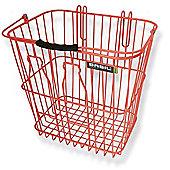 Basil Rear Milkbottle Bike Basket w/ Nylon Grip Handle Orange