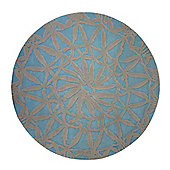 Esprit Oriental Lounge Turquoise Tufted Rug - Round 200 cm x 200 cm (6 ft 7 in x 6 ft 7 in)