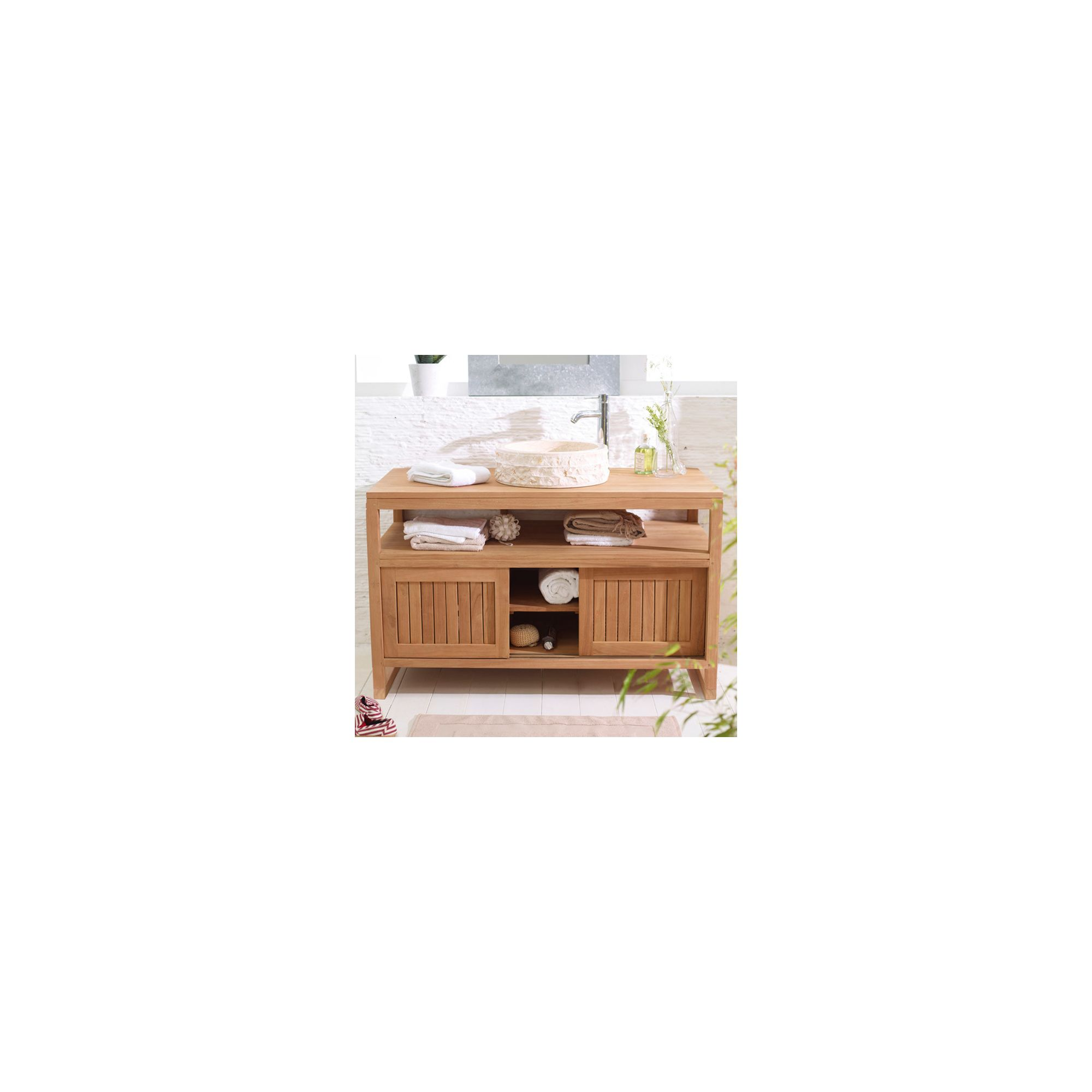 Tikamoon Colonial Duo Teak Vanity Cabinet at Tesco Direct
