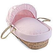 Clair de Lune Palm Moses Basket (Soft Waffle Pink)