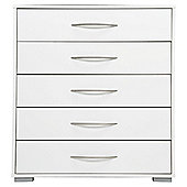 Newport 5 Drawer Chest White