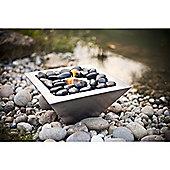 La Hacienda Premium Stainless Steel Gel Burner With Pebbles