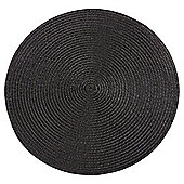 Round Placemats, Black, 2 pack