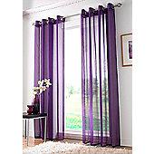 Plain Ring Top Voile - Purple