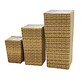 Maze Rattan Winchester Shaped Planters