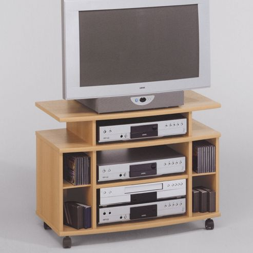 Maja-Möbel 41,7cm TV/Video Trolley in Beech