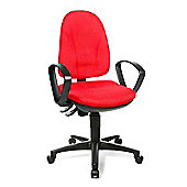 Topstar Point Swivel Chair with Fabric Cover in Red