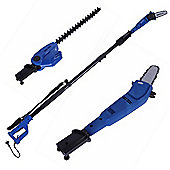 Homegear 2 In 1 Telescopic Electric Garden Hedge Trimmer Chainsaw Bush Cutter
