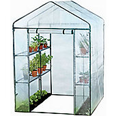 Harbour Housewares Double Depth Vegetable / Fruit Greenhouse With 8 Shelves