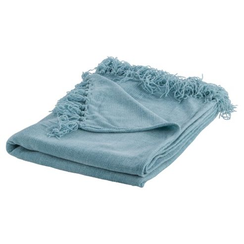 Tesco Chenille Throw- Duck Egg 125X160Cm