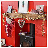 Weiste Gold Holly Christmas Garland, 2m