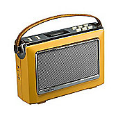 Goodmans 1960's Vintage Style Digital & FM Radio Oxford 2 in Mustard - NFC and Bluetooth …