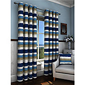 Truro Eyelet Curtains 229 x 183cm - Blue