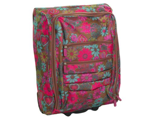 Barratts Lightweight Flower Print Suitcase