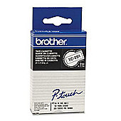 Brother TC 9mm Gloss Laminated Labelling Tape 7.5m (Black on White) for P-Touch