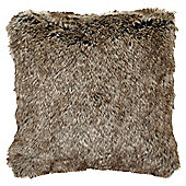 Brown Faux Fur Cushion
