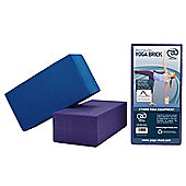 YogaMad FitnessMad Hi Density Yoga Brick - Blue