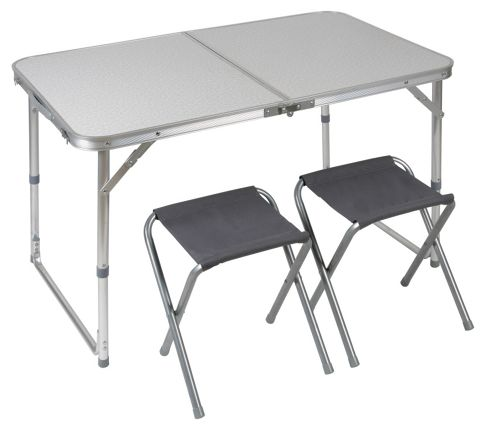High Peak Camping Table With 2 Stools