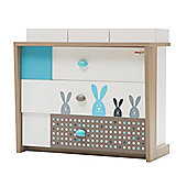 NewJoy Blue Bunny Children s Chest of Drawers