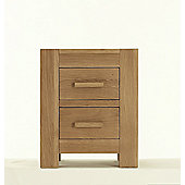 Thorndon Block Bedroom Bedside Cabinet in Natural Matured Oak
