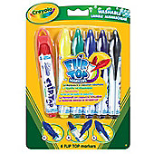 Crayola 6 Flip Top Markers - Arts and Crafts