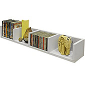 Virgo - Cd / Dvd / Blu-ray / Media Wall Storage Shelf - White