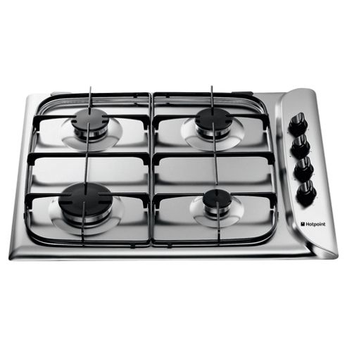 Hotpoint GC640BK Gas 4 Burner Black
