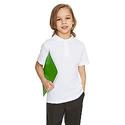 F&F School 2 Pack of Boys Polo Shirts With As New Technology