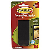 Command Large Picture Strips Black 4pk