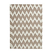 Think Rugs Hong Kong Beige Tufted Rug - 150 cm x 230 cm (4 ft 11 in x 7 ft 7 in)