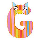 Tatiri Crazy Animals Letter G (Orange/Pink Cat)