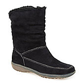 Pavers Faux Fur Lined Calf Boot - Black