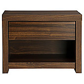 Tribeca 1 Drawer Bedside Walnut