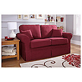 Louisa Small Loose Cover Fabric Sofa Wine Jaquard