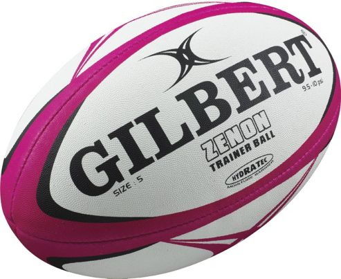 Gilbert Mens Zenon Training Rugby Ball PINK/BLACK Size 5