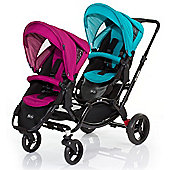 ABC Design Zoom Tandem Pushchair (Coral/Grape)