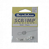 Beadalon Scrimp Finding Bullet Sp 10Pcs