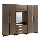 Ideal Furniture New York Fitment Wardrobe - American Walnut