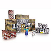 Minecraft 48 Piece Shelter Paper Craft Pack